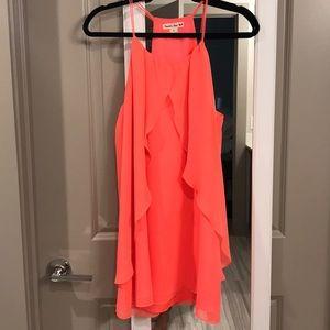 DOUBLE ZERO Neon Spaghetti Strap Dress